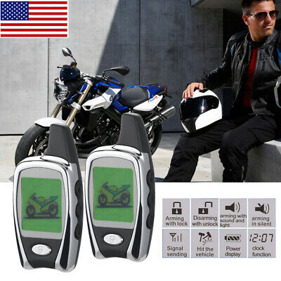 Universal 2 Way Motorcycle Alarm Remote Engine Start Anti-theft Security System