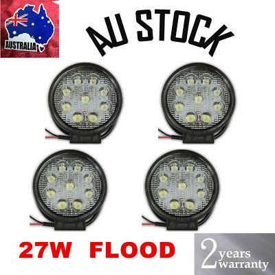 4pcs LED Work Light Bar 27W Flood Driving Offroad Camping Lamp Truck 4WD 12V 24V