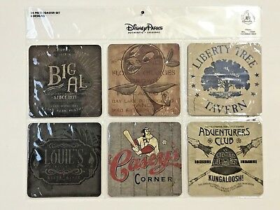 Disney Parks Coaster Set 24 Coasters Orange Bird Adventurers Club and More New