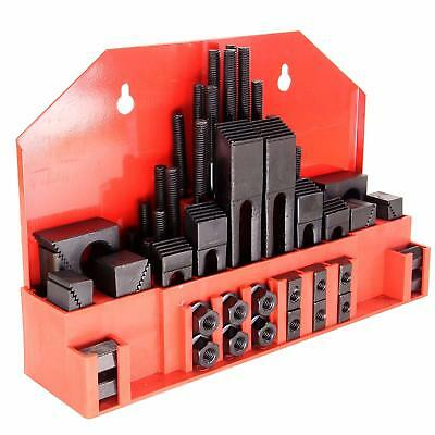 """58 pc Hold Down Clamp Set 5/8"""" Slot 1/2""""-13 Stud Machinist Milling Tool Kit"""