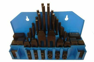 """58 Pc Hold Down Clamp Set 7/16"""" T Slot 3/8-16 Stud Machinist Milling Tool Kit"""