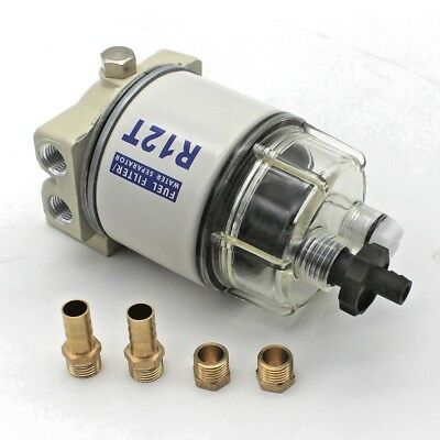 New Fuel Filter / Water Separator For  R12T Marine Spin-on Housing 120AT