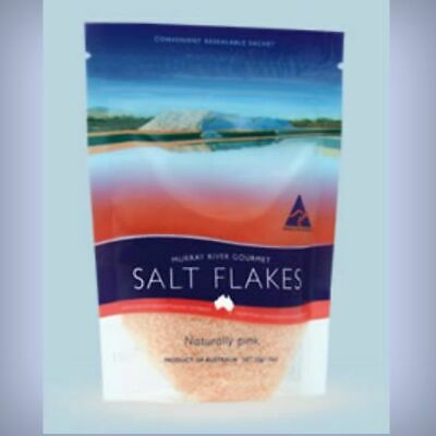 Murray River Salt Flakes 150g Pouch Pink Salt. Gourmet