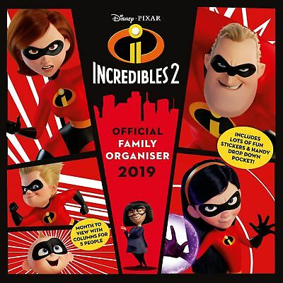 The Incredibles Family Planner Official 2019 Wall Calendar New & Sealed