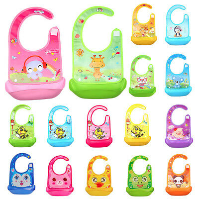 Cute Kid Infant Bibs Baby Soft Silicone Bib Waterproof Saliva Dripping Bibs