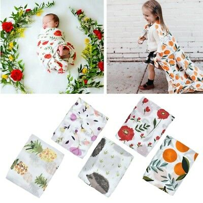 Baby Swaddles Muslin Cotton Newborn Blankets Bath Gauze Infant Wrap Sleepsack