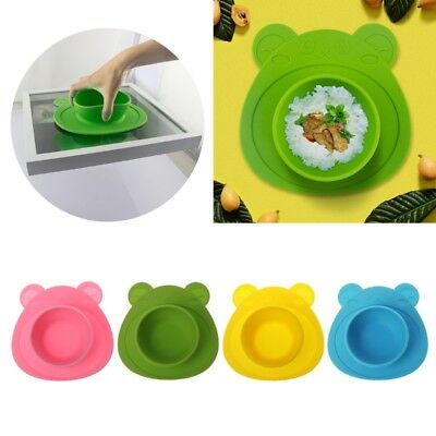 Baby Kids Plate Silicone Dishes Bowl Feeding Food Pratos Tray Dishes For Toddler