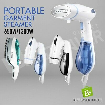 650W/1300W 5in1 Portable Home Handheld Travel Garment Clothes Steamer Brush