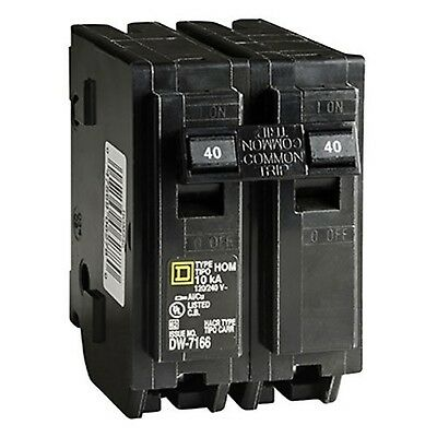 Square D by Schneider Electric HOM240CP Homeline 40 Amp Two-Pole Circuit Brea...