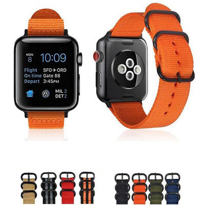 Woven Nylon Sport Loop Band Strap For iWatch Apple Watch Series 1 2 3 Accessory