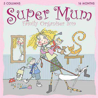 Super Mum Kim Nash Family Planner Official 2019 Wall Calendar New & Sealed