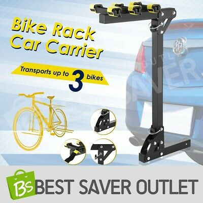 "Bicycle Bike Steel 3 Rack Rear Car Carrier 2""  Receivers Hitch Mount Platform"