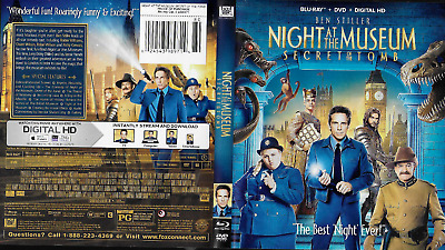 Night at the Museum: Secret of the Tomb (Blu-ray/DVD, 2015, 2-Disc)
