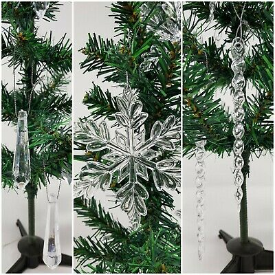 Christmas Baubles Icicle Tree Decorations Decoration Snow Flakes Bauble Droplet