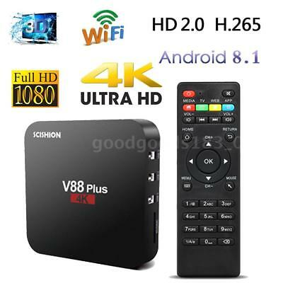 V88 RK3229 Quad Core 2GB/16GB Smart Android 8.1 TV Box WiFi VP9 H.265 LAN HDR10