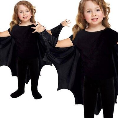 Boys Girls Bat Wings Toddlers Cape Kids 2-3 Years Fancy Dress Halloween Costume