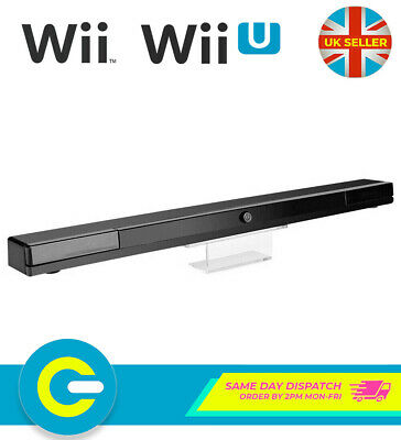 Black Wireless Sensor Bar Extended Range Infrared for Nintendo Wii & Wii U