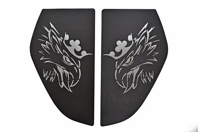 Carbon Fiber Black Sticker Grey Griffin 2x Bed Window Decals for SCANIA S R '16+