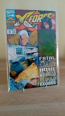 X-FORCE # 25 * CABLE HOLOGRAM cover * NEAR MINT Dynamic Forces - Greg Capullo
