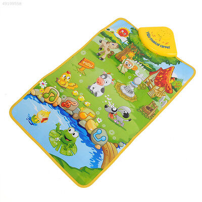 1950 HOT Musical Singing Farm Kid Child Playing Play Mat Carpet Playmat Touch