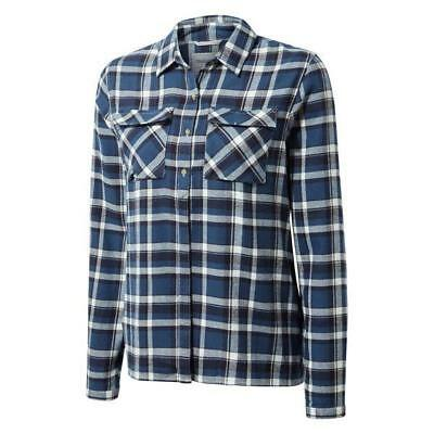Craghoppers Womens Islay Brushed Winter Walking Outdoor Check Shirt - Loch Blue