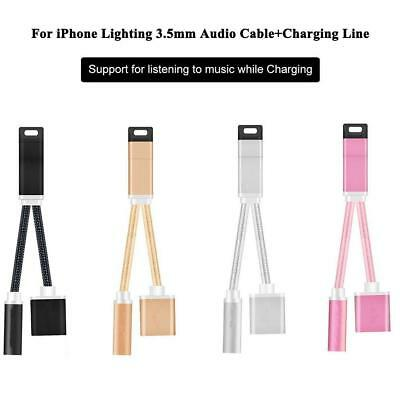 2in1 Audio Cable Connector Headphone Adapter Splitter for IPhone 7/7Plus pk#22
