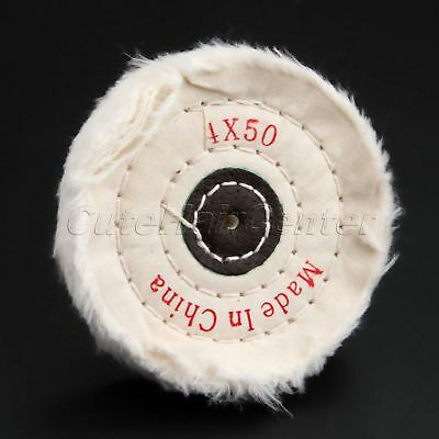 "Clean Polish /& Restore  200mm x 40mm  C200//3 8/"" Stitched Cotton Buffing Wheel"