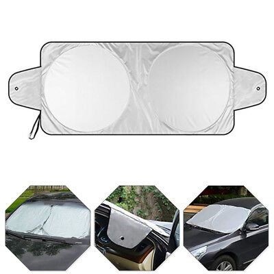 1pc Car Front Window Sun Shade Folding Windshield Block Cover 160x86cm Universal