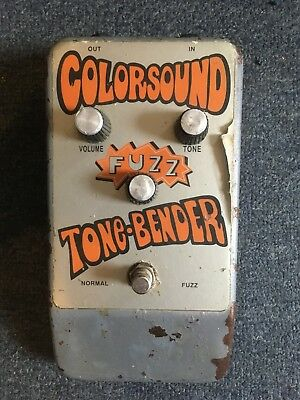Colorsound Tonebender Fuzz Reissue Jumbo Guitar Effect Pedal 90's reissue