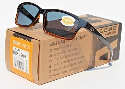 29a455008a9e1 COSTA DEL MAR Tern 580 POLARIZED Sunglasses Coconut Fade Gray 580P NEW  159