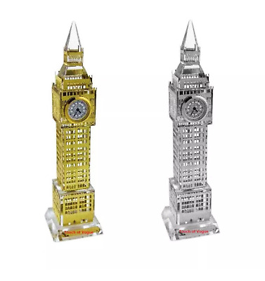 Glass Real Working Big Ben Clock Large Lights London Souvenir Ornament Gift