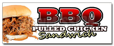 """24"""" BBQ PULLED CHICKEN SANDWICH DECAL sticker bbq sauce slow smoked barbeque"""