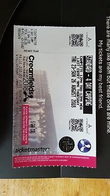 Creamfields 2018 4 Day Standard camping ticket x1