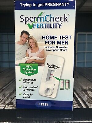 SpermCheck Fertility Home Test for Men Sperm Check Male EXP NOVEMBER  2019 New