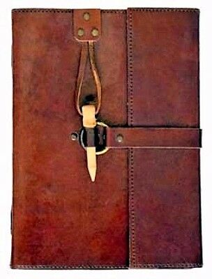 Leather Book of Shadows w/ Peg Closure Blank Journal Wicca Pagan Dream Diary Log