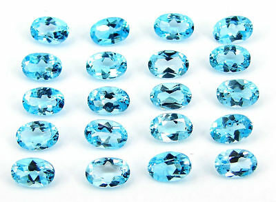 10.20 Ct Natural Blue Topaz Loose Oval Gemstone Wholesale Lot of 20 Pcs - 17592