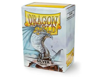 Silver Matte 100 ct Dragon Shield Sleeves Standard Size FREE SHIPPING! 5% OFF 2+