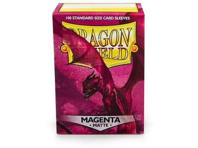 Magenta Matte 100 ct Dragon Shield Sleeves Standard Size FREE SHIPPING 5% OFF 2+