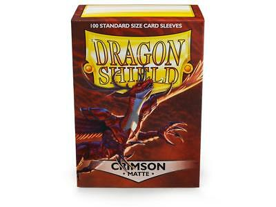 Crimson Matte 100 ct Dragon Shield Sleeves Standard Size FREE SHIPPING 5% OFF 2+