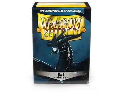 Jet Matte 100 ct Dragon Shield Sleeves Standard Size FREE SHIPPING! 5% OFF 2+