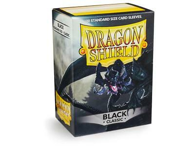 Black Classic 100 ct Dragon Shield Sleeves Standard Size FREE SHIPPING 5% OFF 2+