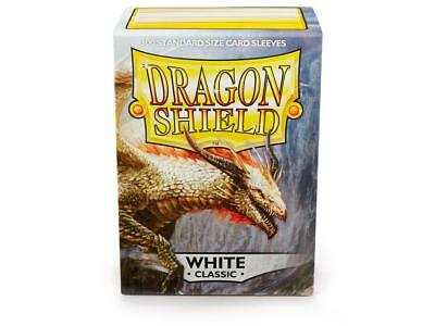 White Classic 100 ct Dragon Shield Sleeves Standard Size FREE SHIPPING 5% OFF 2+