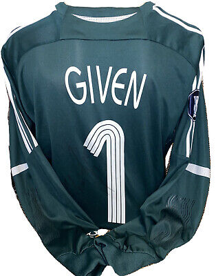 Signed Newcastle United Goalkeeper Shirt Shay Given Match Issue European Rare