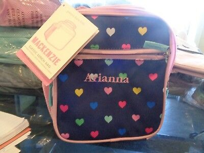 7697952e50fe Pottery Barn Kids Mackenzie Classic lunch bag navy multi hearts mono  Arianna New