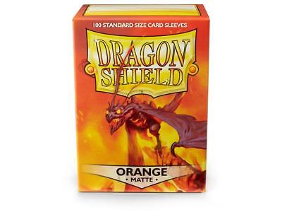 Orange Matte 100 ct Dragon Shield Sleeves Standard Size FREE SHIPPING! 5% OFF 2+