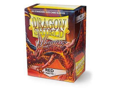 Red Matte 100 ct Dragon Shield Sleeves Standard Size FREE SHIPPING! 5% OFF 2+