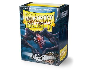 Black Matte 100 ct Dragon Shield Sleeves Standard Size FREE SHIPPING! 5% OFF 2+