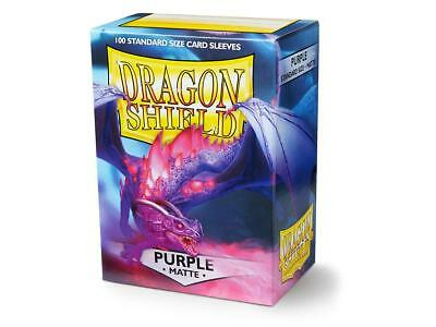 Purple Matte 100 ct Dragon Shield Sleeves Standard Size FREE SHIPPING! 5% OFF 2+