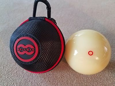 """New Genuine Aramith Red Circle Cue Ball  6oz  2.25/"""" Black Ball Carrying Pouch!"""