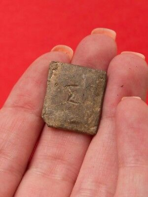 Byzantine Lead Exagium Weight with Letter Σ Exagia Ancient 1283H